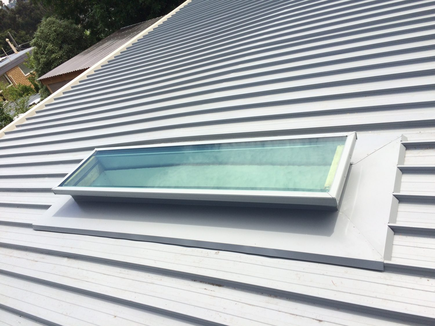 Skylight Installation on a flat metal roof replacement, Geelong
