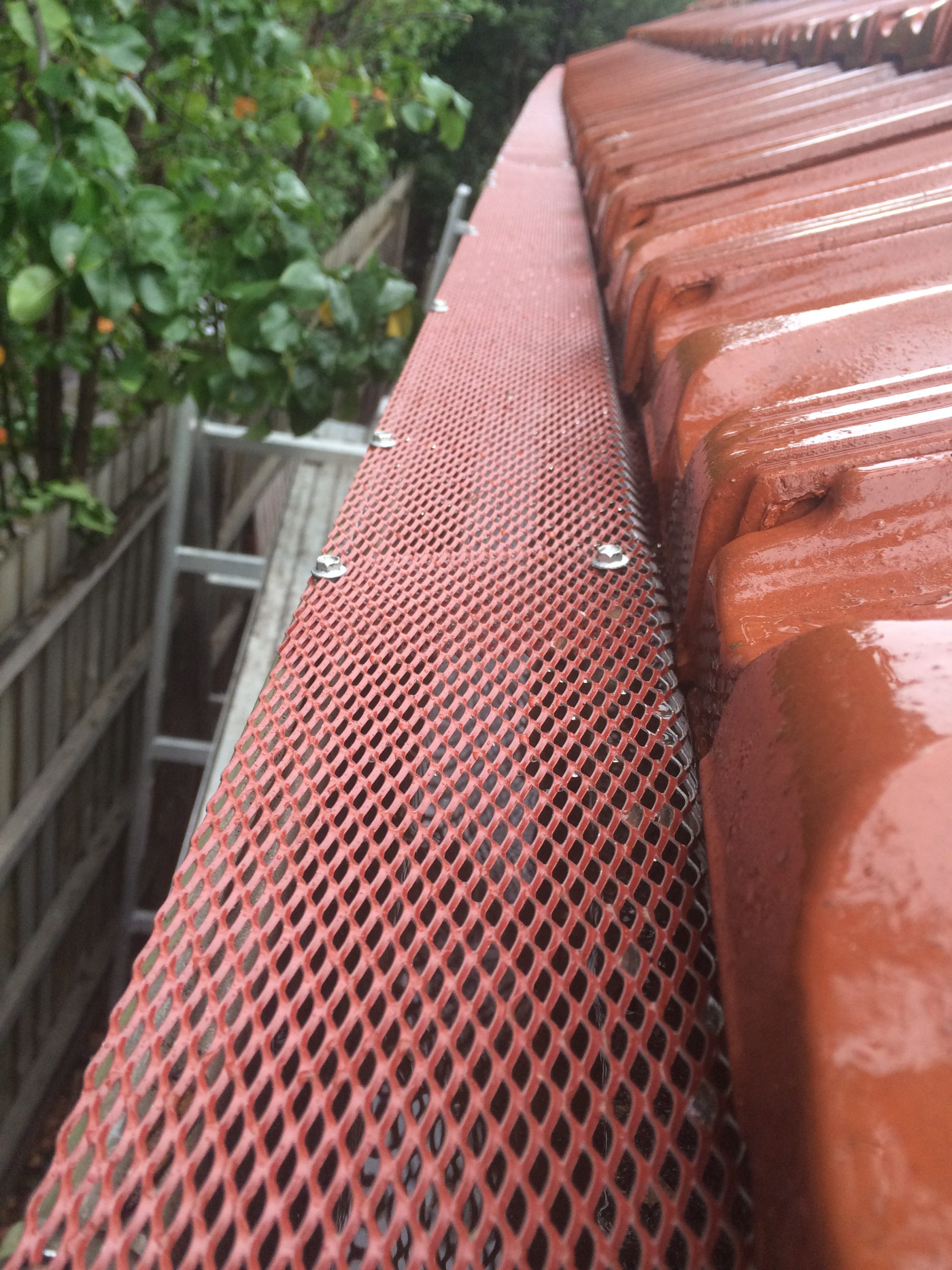 Gutter Guard Installation on a tiled roof, Geelong